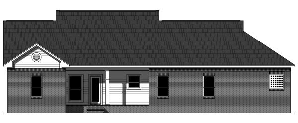 Country European Ranch Traditional House Plan 59941 Rear Elevation