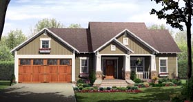 Bungalow Craftsman House Plan 59942 Elevation