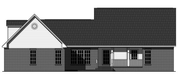 Country Craftsman Traditional House Plan 59945 Rear Elevation