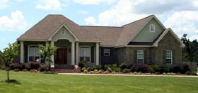 Cottage , European , Southern , Traditional House Plan 59946 with 3 Beds, 3 Baths, 2 Car Garage Elevation