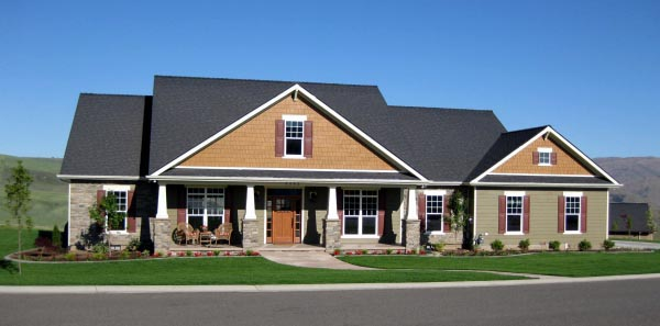 Cottage, Country, Craftsman House Plan 59947 with 4 Beds, 4 Baths, 3 Car Garage Picture 1