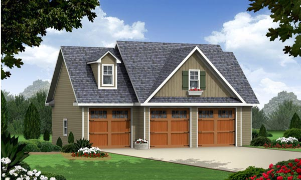 Cottage Craftsman Traditional Garage Plan 59948 Elevation