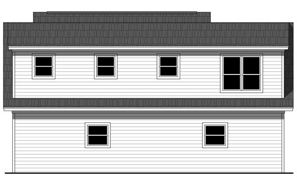 Cottage Craftsman Traditional Garage Plan 59948 Rear Elevation