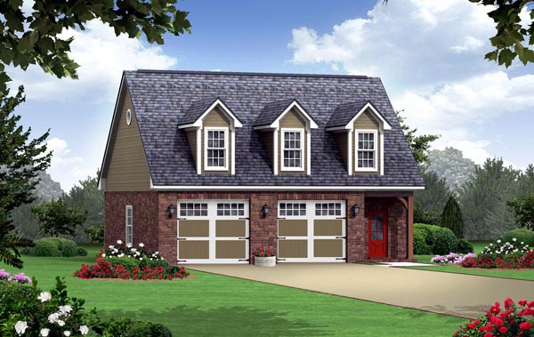 Country Southern Traditional Garage Plan 59949 Elevation