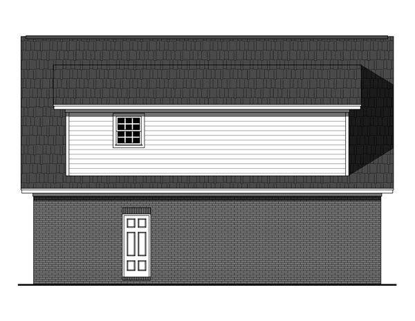 Country Southern Traditional Garage Plan 59949 Rear Elevation
