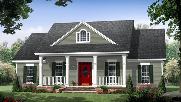 Colonial Country Traditional House Plan 59952 Elevation