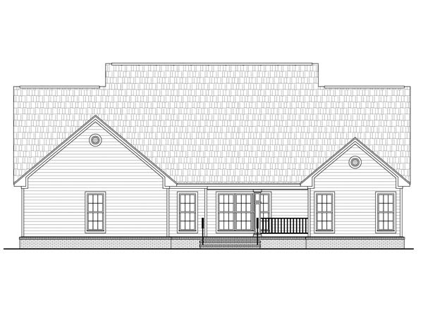 Country Farmhouse Traditional House Plan 59955 Rear Elevation