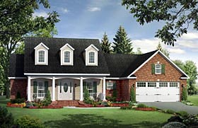 Country Farmhouse Traditional House Plan 59958 Elevation