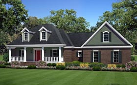 Country Farmhouse Traditional House Plan 59960 Elevation