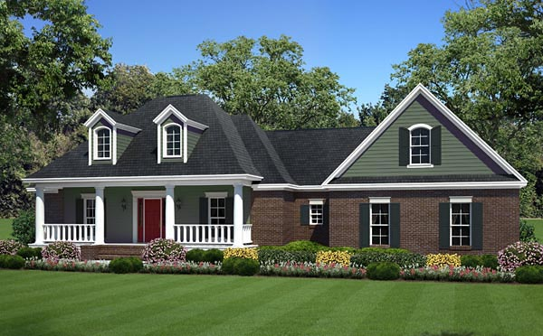 Country Farmhouse Traditional Elevation of Plan 59960