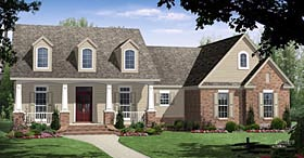 Ranch , Craftsman , Country House Plan 59961 with 3 Beds, 3 Baths, 2 Car Garage Elevation