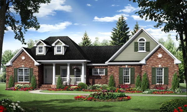 Country European Traditional House Plan 59963 Elevation