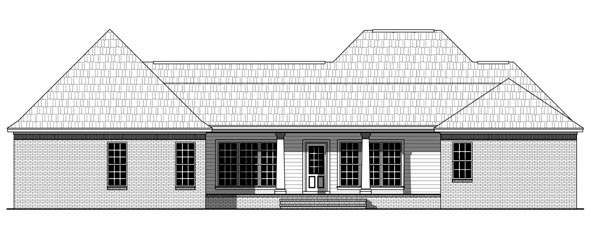 Country European Traditional House Plan 59963 Rear Elevation