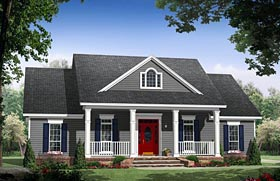Cottage Country Traditional House Plan 59969 Elevation