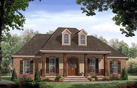 Traditional , French Country , European , Country House Plan 59972 with 3 Beds, 2 Baths, 2 Car Garage Elevation