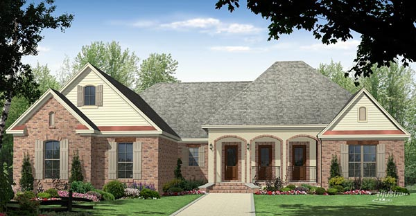 Country European French Country Traditional House Plan 59977 Elevation