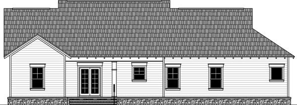 Cottage Country Craftsman House Plan 59980 Rear Elevation