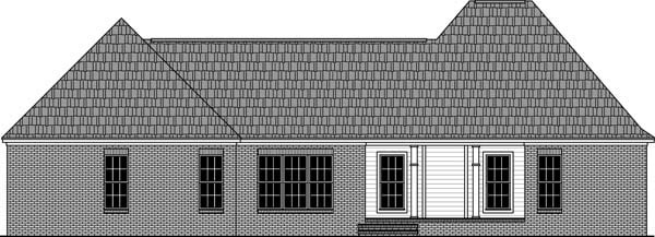 Country European Traditional House Plan 59982 Rear Elevation