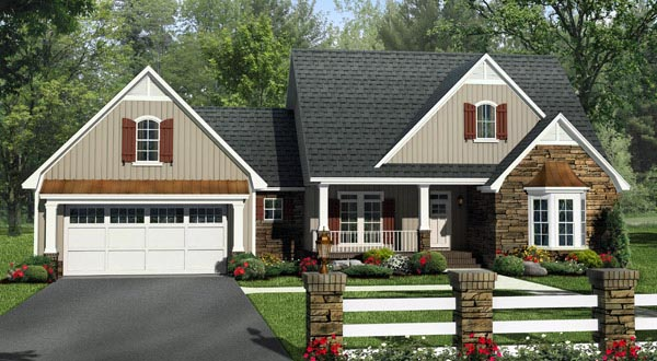 Country French Country Traditional House Plan 59984 Elevation