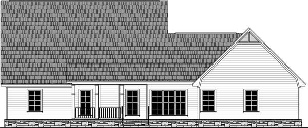 Country French Country Traditional House Plan 59984 Rear Elevation
