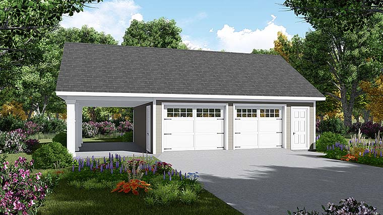 Garage Plan 59997 Elevation