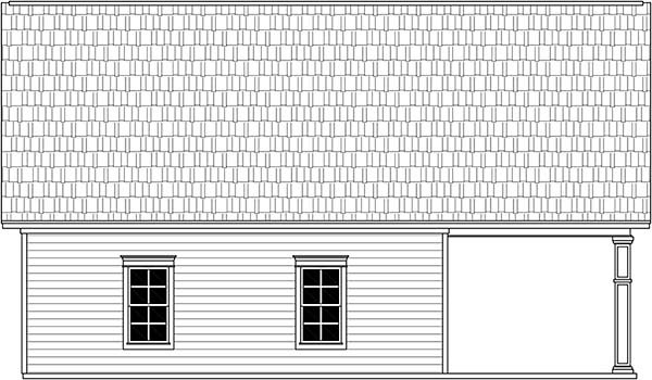 Garage Plan 59997 Rear Elevation