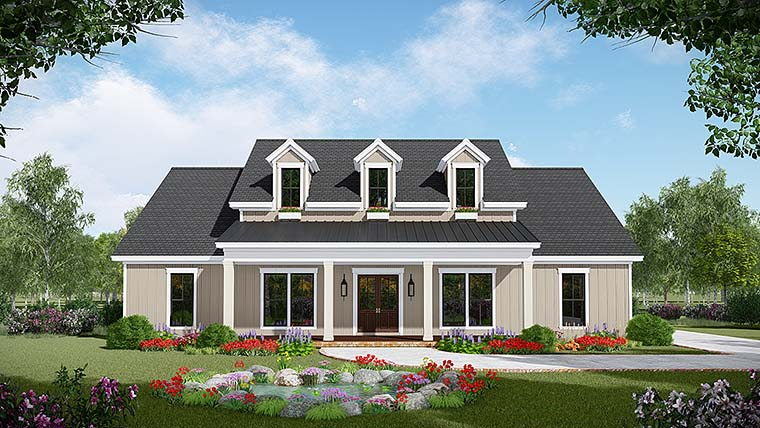 Country Farmhouse Southwest House Plan 59999 Elevation