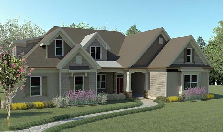 Traditional , Craftsman , Cottage House Plan 60001 with 3 Beds, 2 Baths, 2 Car Garage Elevation
