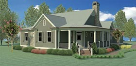 Country Traditional House Plan 60002 Elevation
