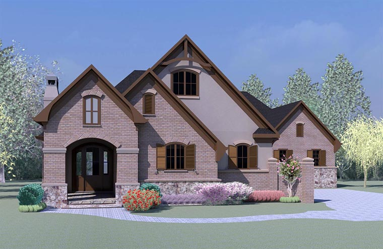 European Tudor House Plan 60006 Elevation