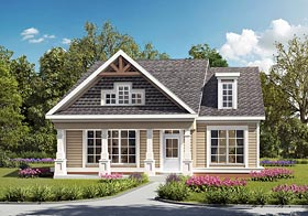 Country Craftsman Traditional House Plan 60008 Elevation