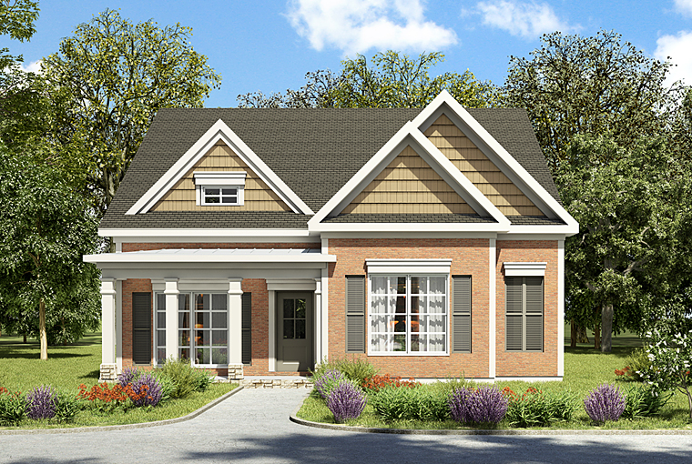 House Plan 60010 | Traditional Style House Plan with 1797 Sq Ft, 3 Bed, 3 Bath, 2 Car Garage Elevation