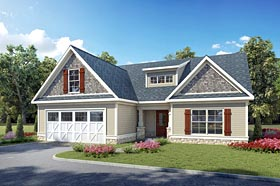 Country Craftsman Traditional House Plan 60011 Elevation