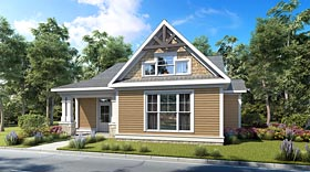 Cottage Country Craftsman Ranch House Plan 60013 Elevation