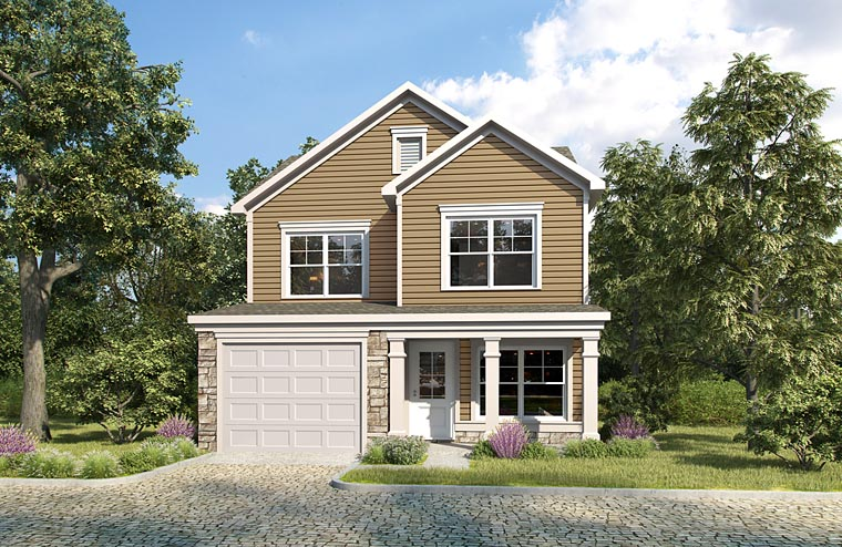 Traditional House Plan 60014 with 3 Beds, 3 Baths Elevation