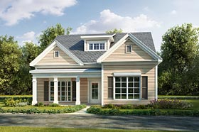 Cottage , Country , Traditional House Plan 60015 with 3 Beds, 3 Baths, 2 Car Garage Elevation