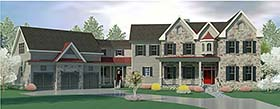 House Plan 60019 | Country Southern Traditional Style Plan with 4849 Sq Ft, 4 Bedrooms, 5 Bathrooms, 3 Car Garage Elevation