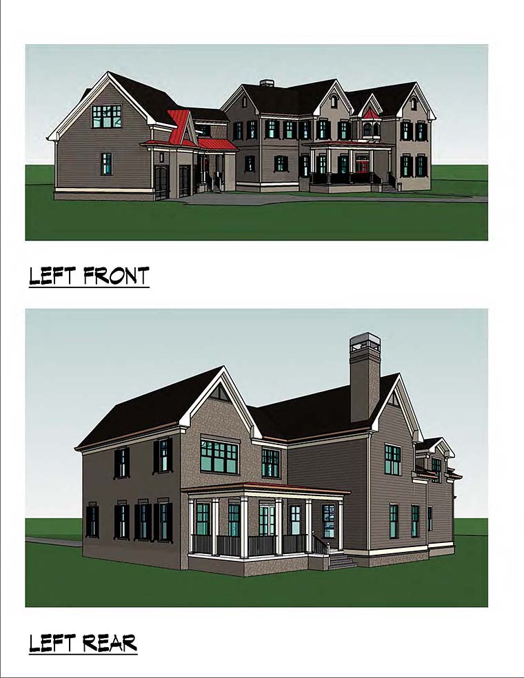 Country, Southern, Traditional House Plan 60019 with 4 Beds, 5 Baths, 3 Car Garage Picture 1