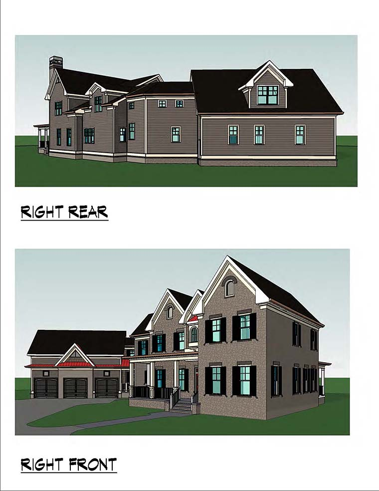 Country, Southern, Traditional House Plan 60019 with 4 Beds, 5 Baths, 3 Car Garage Picture 2