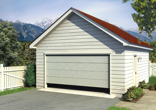2 Car Garage Plan 6002 Elevation
