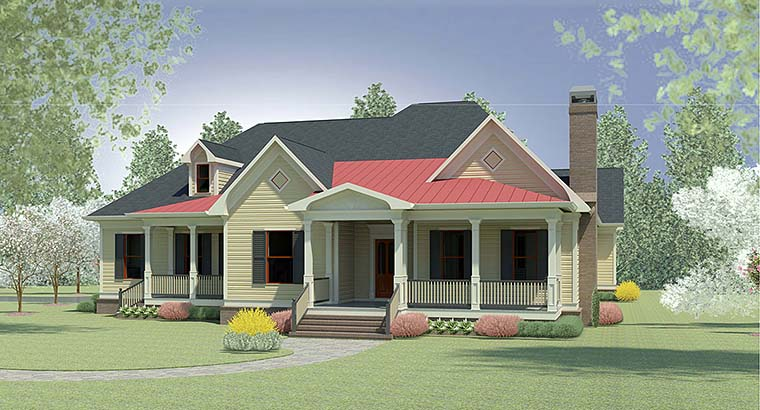 Traditional , Craftsman , Country House Plan 60021 with 4 Beds, 4 Baths, 2 Car Garage Elevation