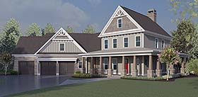 Country , Craftsman , Farmhouse , Southern House Plan 60029 with 4 Beds, 5 Baths, 3 Car Garage Elevation