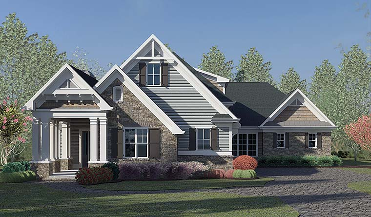 Craftsman Traditional House Plan 60030 Elevation