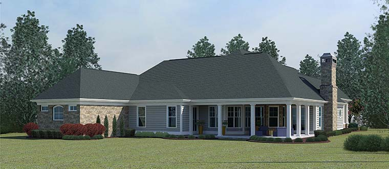 Craftsman Traditional House Plan 60030 Rear Elevation