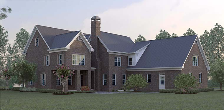 Colonial Southern House Plan 60031 Rear Elevation