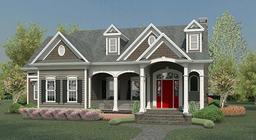 Traditional , Country House Plan 60035 with 4 Beds, 5 Baths, 2 Car Garage Elevation