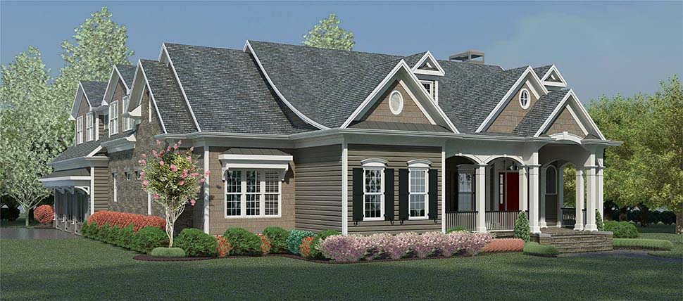 Country, Traditional House Plan 60035 with 4 Beds, 5 Baths, 2 Car Garage Picture 1