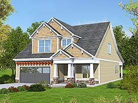 Bungalow Cottage Craftsman Traditional House Plan 60037 Elevation