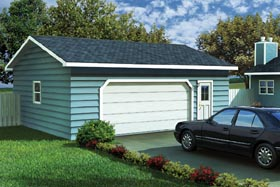 Ranch , Traditional 2 Car Garage Plan 6004 Elevation