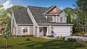 Traditional , Craftsman House Plan 60040 with 4 Beds, 3 Baths, 2 Car Garage Elevation
